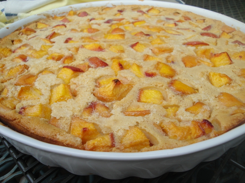 Peach clafoutis a french dessert highlighting fruit in season i forumfinder Image collections