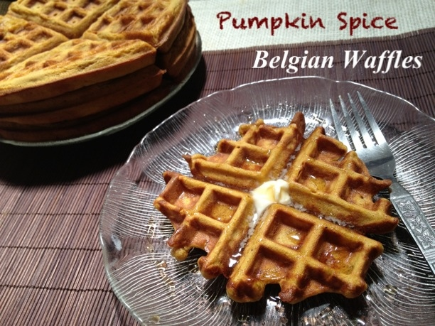 Pumpkin Spice Belgian Waffles