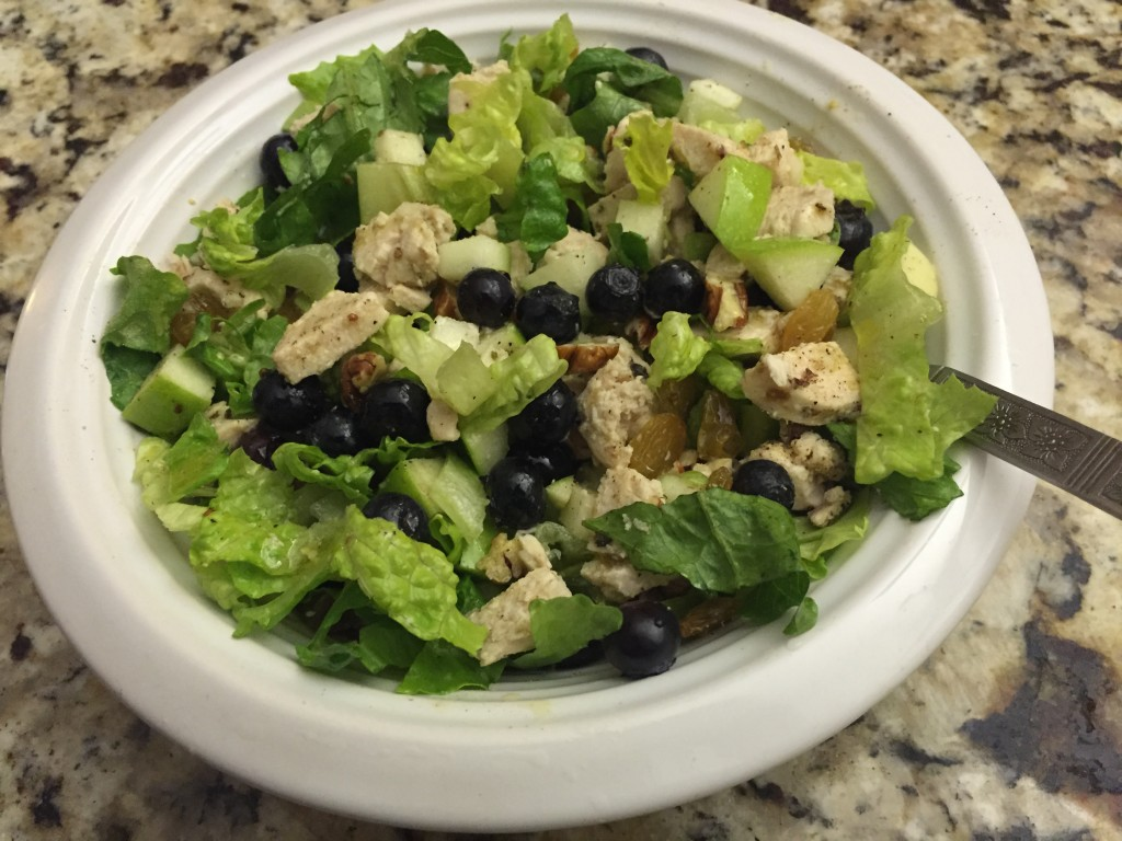 Chicken apple blueberry salad