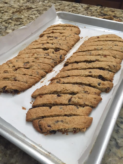 Lemon cranberry biscotti